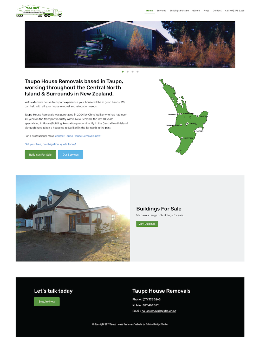 Taupo House Removals Website